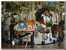 Heritage Carousel - Horse with American Flag