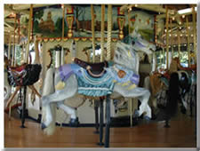 Heritage Carousel - Horse with purple blanket
