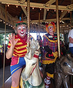 Clowns at the Carousel 2014